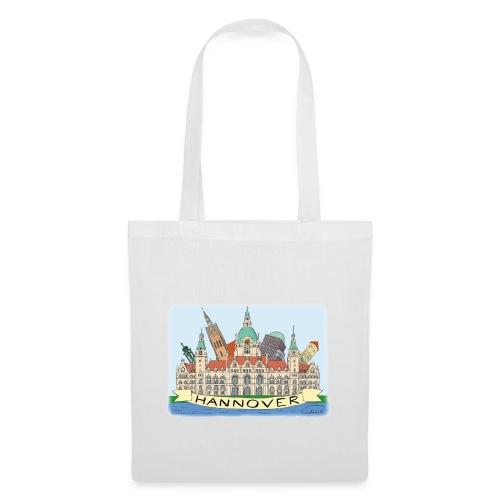 Hannover Rathaus Sehenswürdigkeiten Comic Style - Stoffbeutel