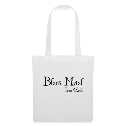 black metal Inner Circle, black ink - Tote Bag