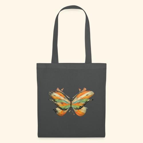 grande farfalla colorata - Borsa di stoffa