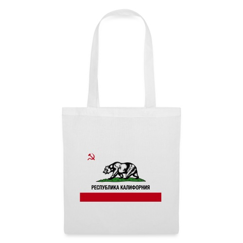 CALIFORNIA REPUBLIC | RUSSIAN CYRILLIC - Borsa di stoffa