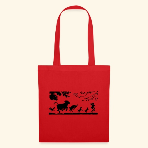 animales caminando - Bolsa de tela
