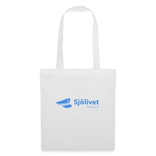 Sjölivet podcast - Svart logotyp - Tygväska