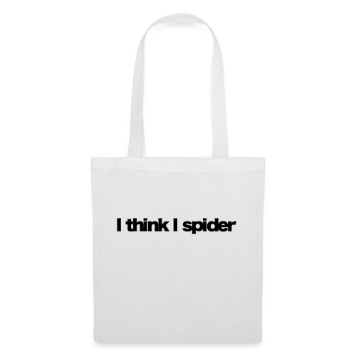 i think i spider black 2020 - Stoffbeutel