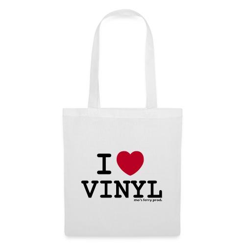i heart vinyl2 - Stoffbeutel