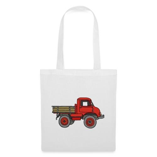 Roter Lastwagen, LKW, Laster - Stoffbeutel