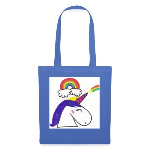 Unicorno arcobaleno - Borsa di stoffa