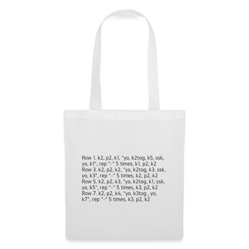 Knit Talk, dark - Tote Bag