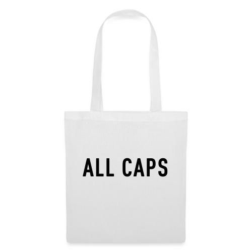 ALL CAPS BAG - Tote Bag