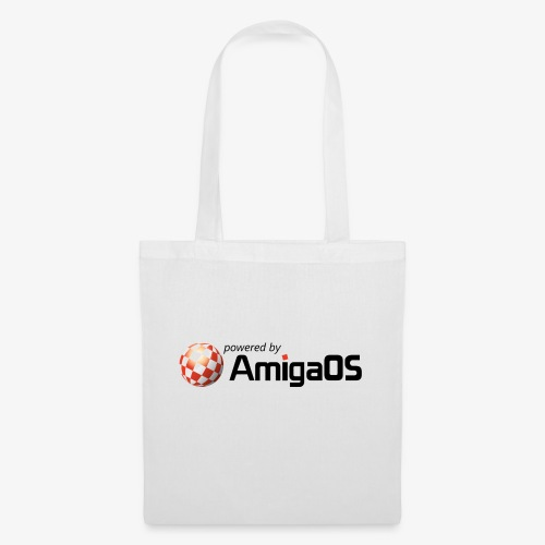 PoweredByAmigaOS Black - Tote Bag