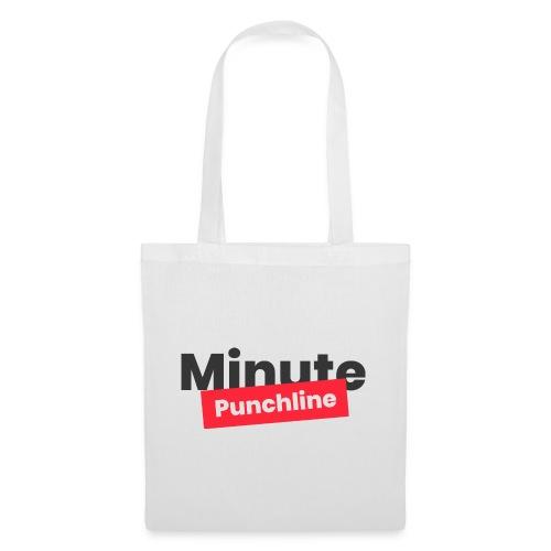 Minute Punchline - Logo Noir - Sac en tissu