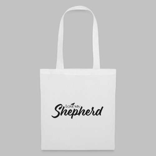 LOVE MY SHEPHERD - Black Edition - Dog Lover - Stoffbeutel