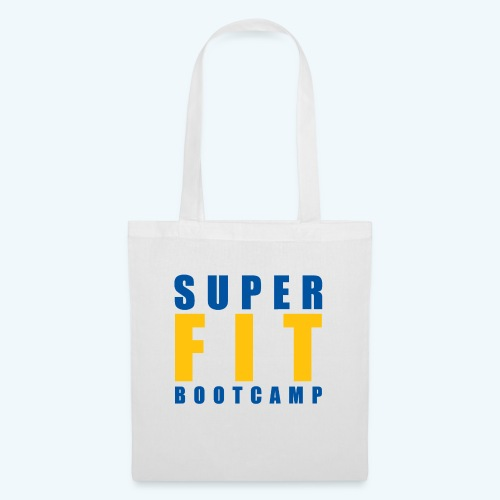White Products inc Yellow & Blue Superfit LOGO - Tote Bag
