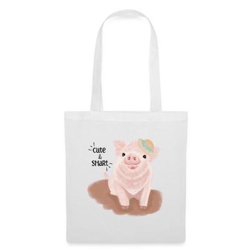 Cute & Smart Pig - Tote Bag