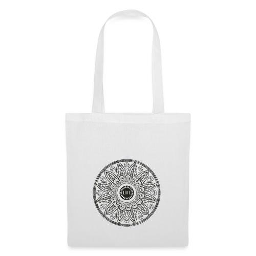 Mandala mit Schriftzug Love - Stoffbeutel