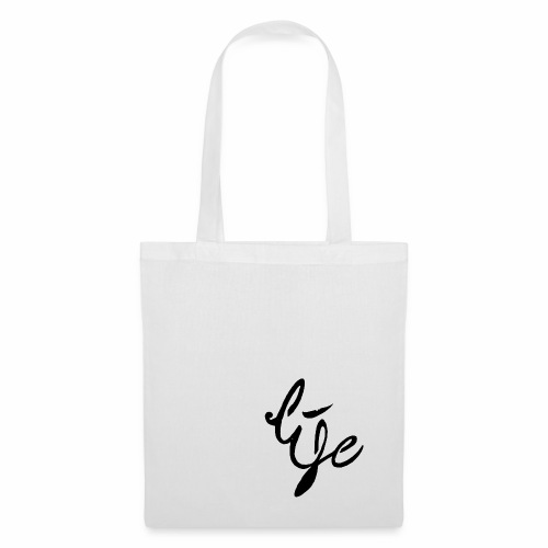 Life Logo simple black - Tote Bag