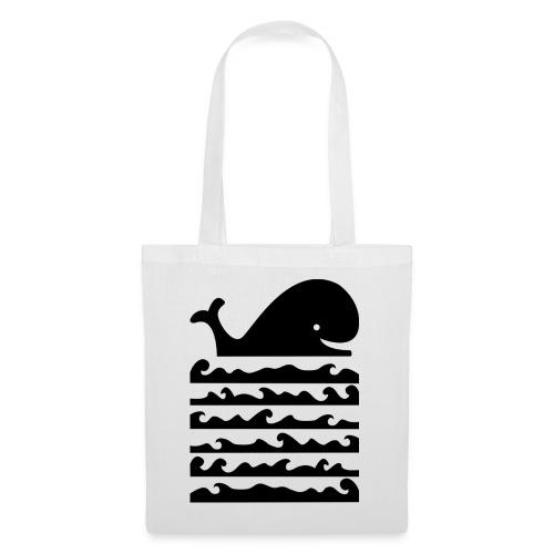 11walvis zwart - Tas van stof