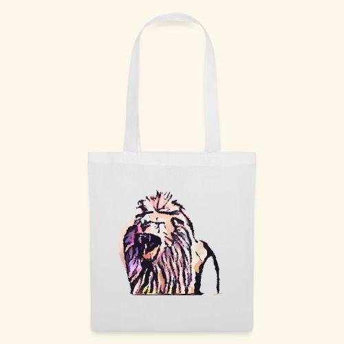leon geometrico - Bolsa de tela
