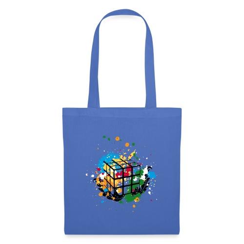 Rubik's Cube Colourful Splatters - Tygväska