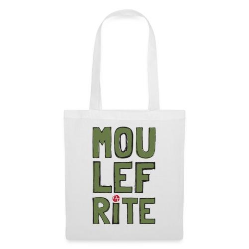 dt moulefrite folk sketchsolid towertee - Tote Bag