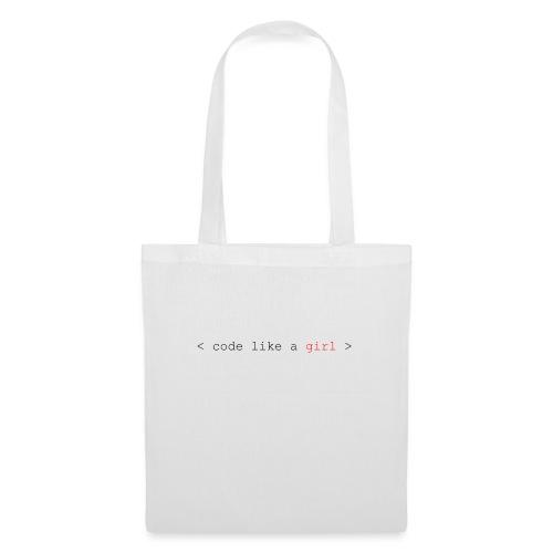 code like a girl - Tote Bag