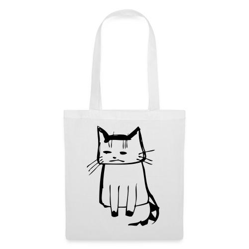 cat drawings on t shirt - Stoffbeutel