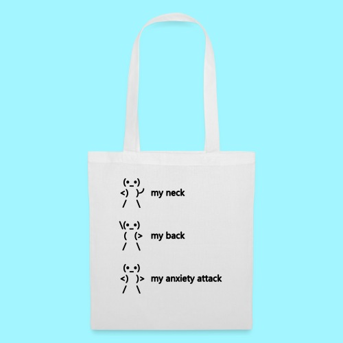 neck back anxiety attack - Tote Bag