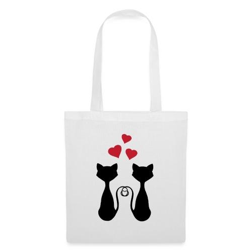 Gatos Enamorados - Bolsa de tela