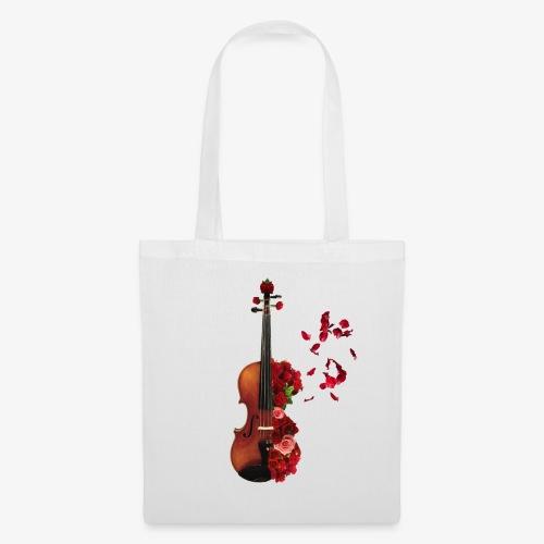 Rosen Violine - Stoffbeutel
