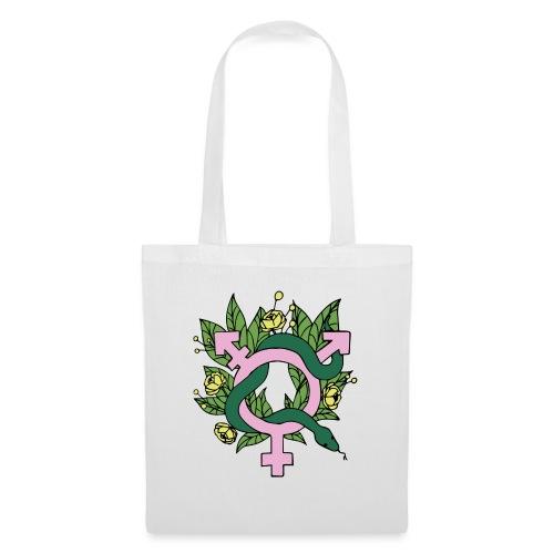 Trans symbol+ snake - Tygväska