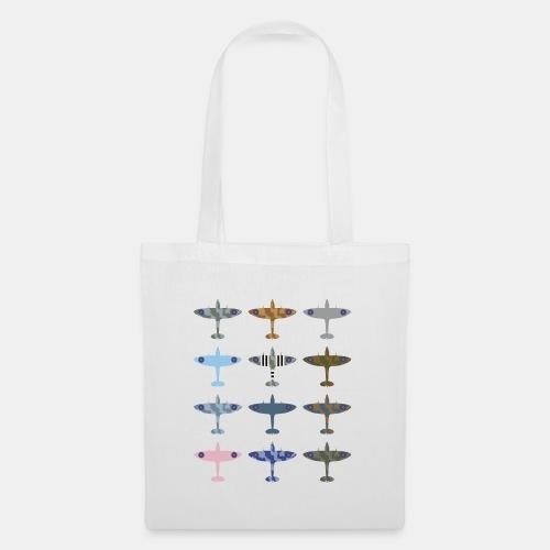Spitfire fighter plane / camouflage pattern - Tote Bag