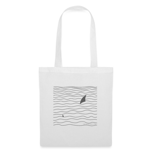 Windsurfer & Shark (black) - Stoffbeutel