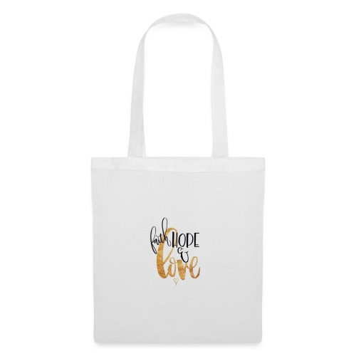 Faith, Hope & Love - Borsa di stoffa