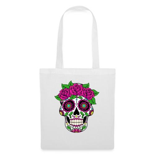 Skully Flower Head - Skuss for Peace - Stoffbeutel