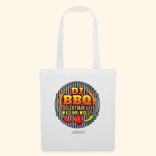 Grill T Shirt lustiger Spruch DJ BBQ - Stoffbeutel