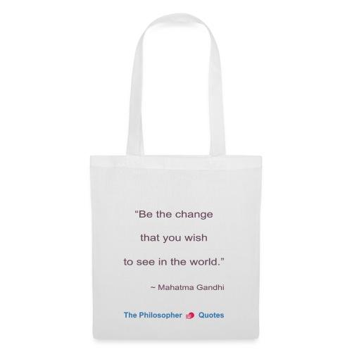 Gandhi Be the change b - Tas van stof