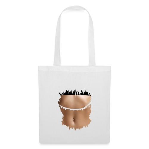 t shirt ventre plat brassiere noire - Tote Bag