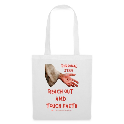 Reach out and touch faith trans gif - Tote Bag