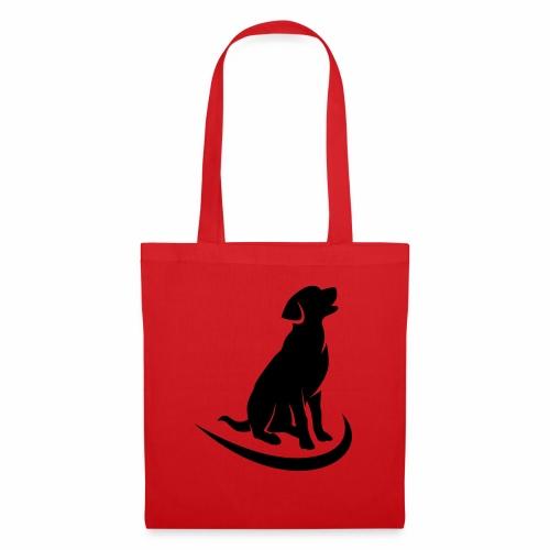 siluetta perro logo colores - Bolsa de tela