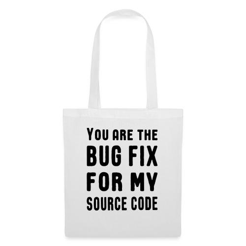 Programmierer Beziehung Liebe Source Code Spruch - Stoffbeutel