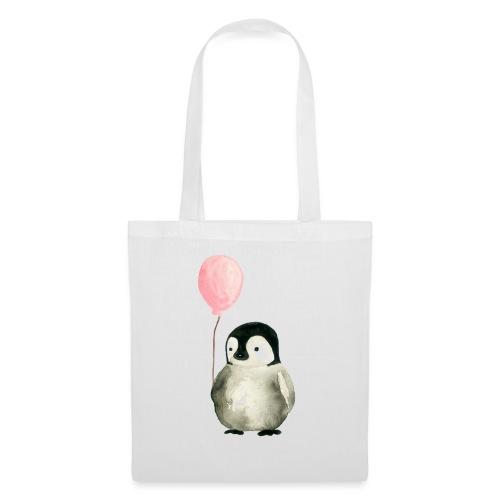 Pinguin Luftballon HELLER - Stoffbeutel