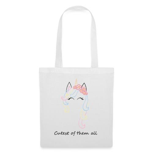 Cutest unicorn - Bolsa de tela