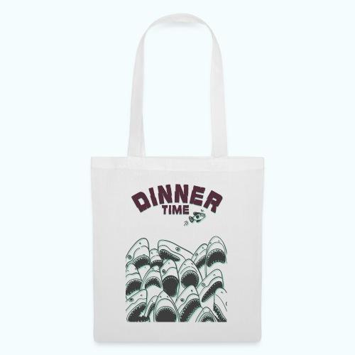 Dinner Time Funny Retro 90s Shark Shirt - Tote Bag
