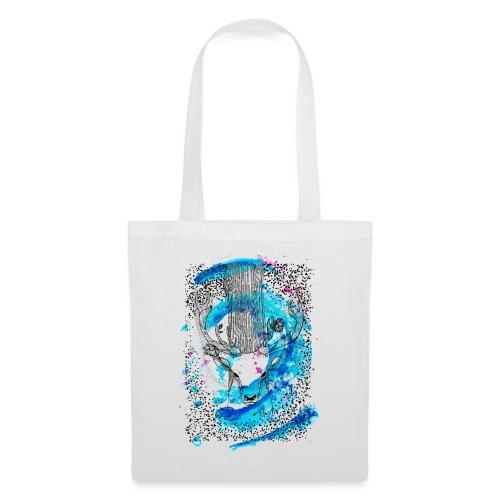 cerf aqua - Tote Bag
