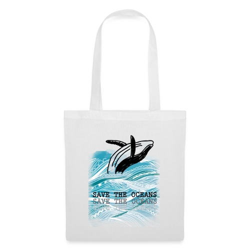 SAVE THE OCEANS - Stoffbeutel
