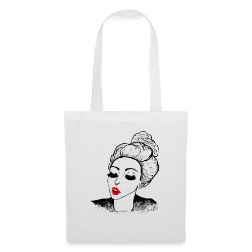 Vintage Retro Girl Kiss message - Tote Bag