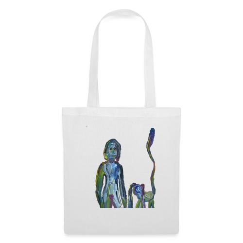 la dame et son animal domestique - Tote Bag