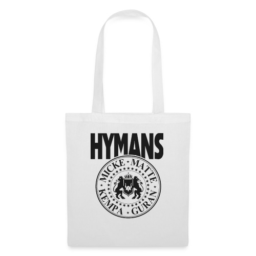 Hymans klassisk svart vit logo tryck - Tygväska
