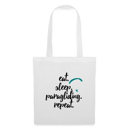 eat. sleep. paragliding. repeat. - Stoffbeutel