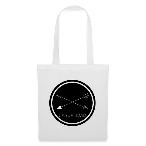 CASUALIDAD circular black logo - Borsa di stoffa