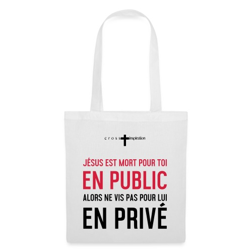 Public ou privé - Sac en tissu